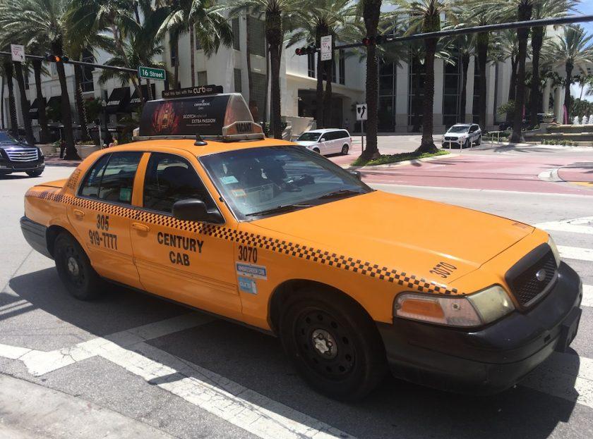 Comment se déplacer à Miami taxi