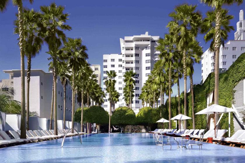 L'hôtel Delano, à Miami Beach, a été décoré en 2007 par le célèbre designer français Philippe Stark